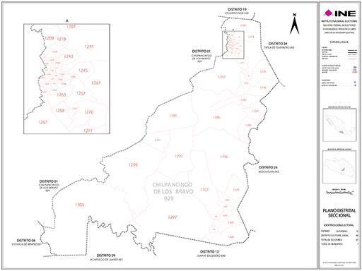 Mapa Distrito Electoral Local 01