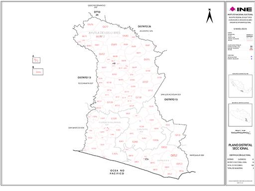 Mapa Distrito Electoral Local 14
