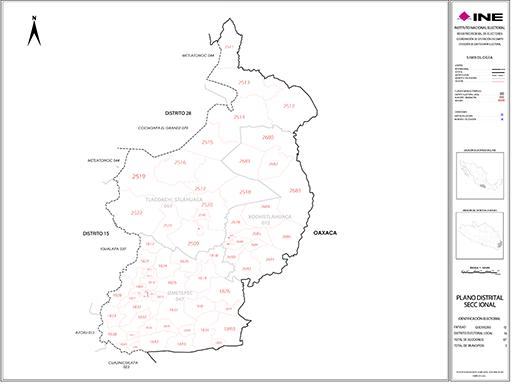 Mapa Distrito Electoral Local 16