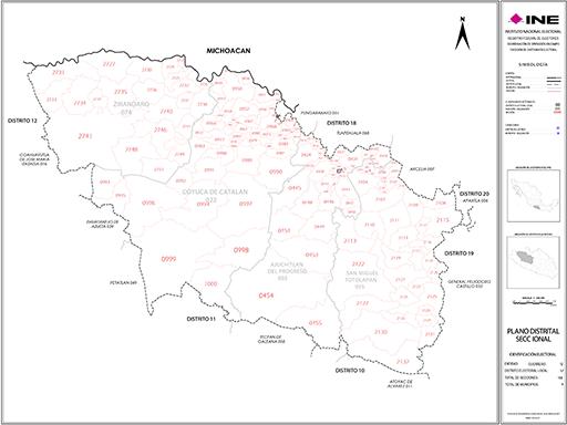 Mapa Distrito Electoral Local 17