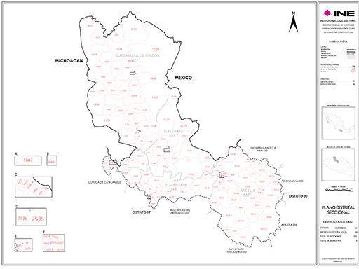 Mapa Distrito Electoral Local 18