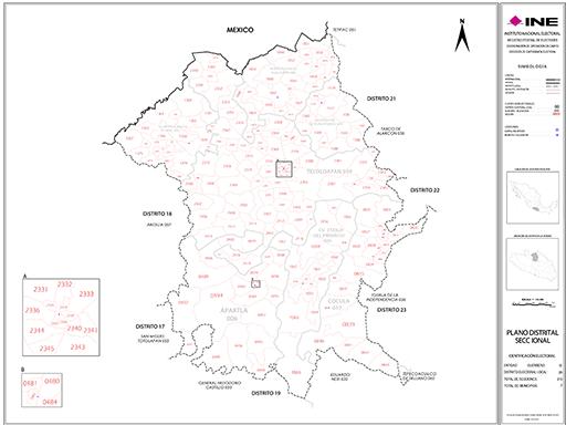 Mapa Distrito Electoral Local 20