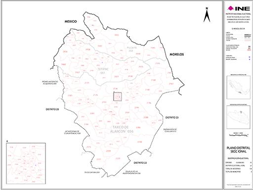Mapa Distrito Electoral Local 21