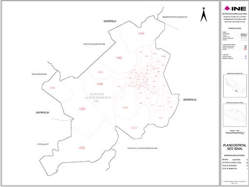Mapa Distrito Electoral Local 22