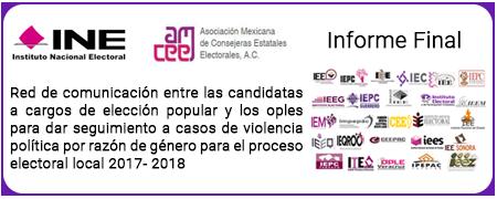Red de comunicación entre las candidatas